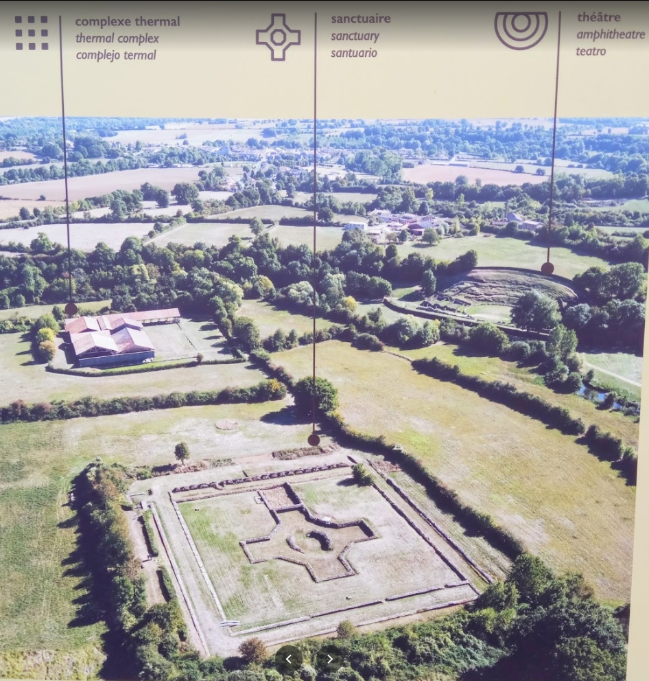 Gallo-Roman Site, Sanxay, Poitou. A Sanctuary, a Thermal Complex and an Amphitheater